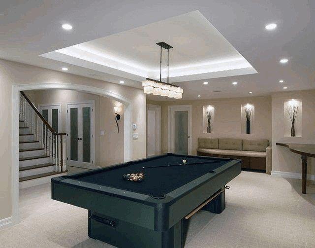 Осветительные приборы цокольного этажа