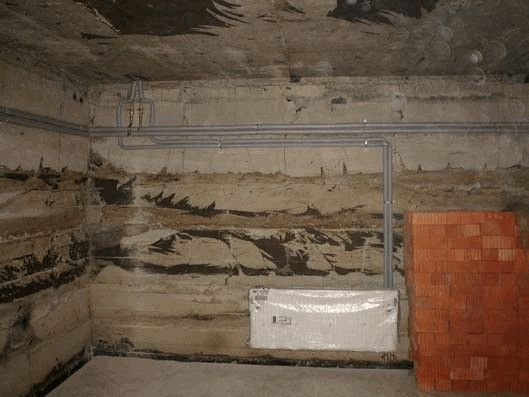 Разводка системы отопления в цокольном этаже