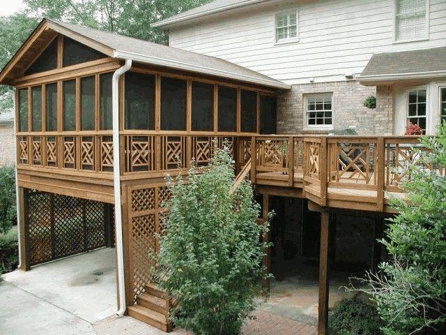 ograzhdenie terassy i verandy iz dereva