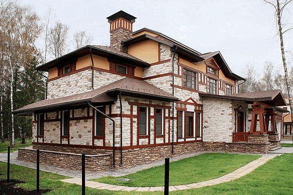 Облицовка фасада дома натуральным или искусственным камнем: расчет материала, монтаж, расшивка швов