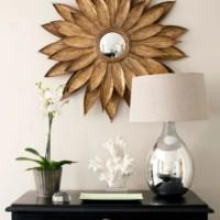 декоративные зеркала на стену для интерьера гостиной